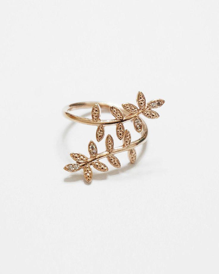 Rose Gold Acacia Ring