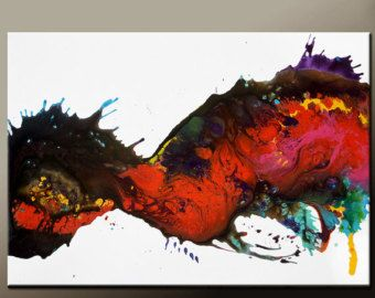 Dank u voor uw interesse in mijn kunst. Dit is een originele kunst van de abstracte hedendaagse canvas schilderij van wereld verzamelde kunstenaar Destiny Womack aka dWo  Schilderij is klaar voor schip en is het exacte schilderij dat u ontvangt. Het wordt binnen 1-2 dagen van uw bestelling verzonden. Wij bieden cadeau verzendservice voor gemakkelijk cadeau geven. Geef u enkel schip naar informatie bij de kassa  DETAILS: Titel::: betoverd Size::::: 36 x 24 Medium::: acryl Canvas::: 3/4 Ga...