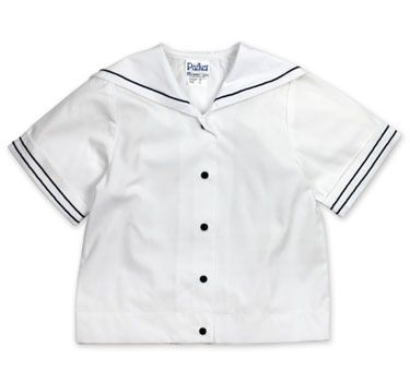 Short Sleeve Sailor Blouse With Navy Trim for Ngana and Jerome