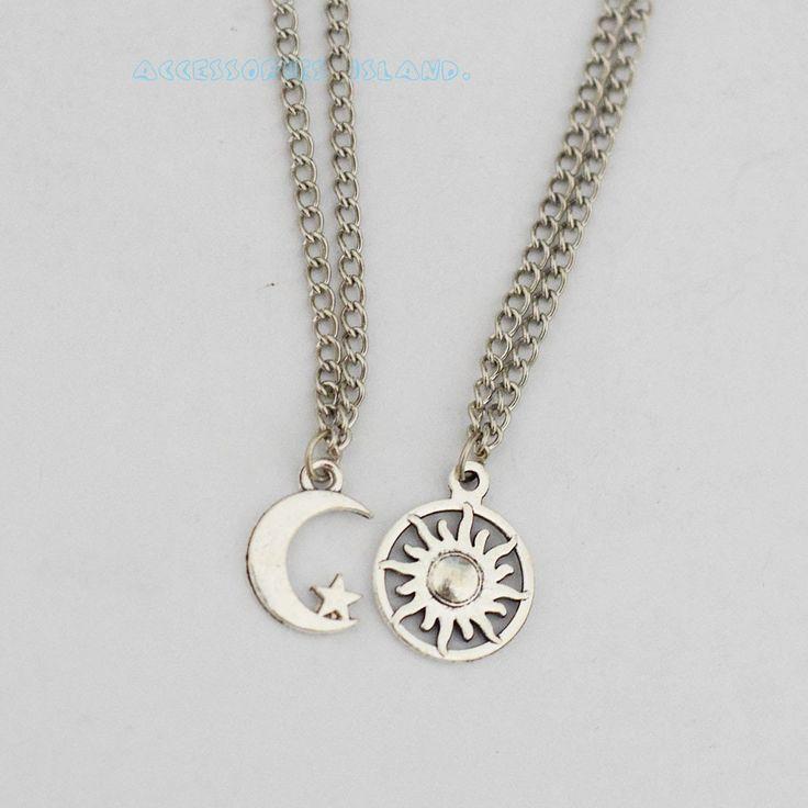 Amazon.com: Bff Necklace Set, stars Sun and Moon Bff Necklace, 2 Sun and Moon Best Friends Necklaces BFF