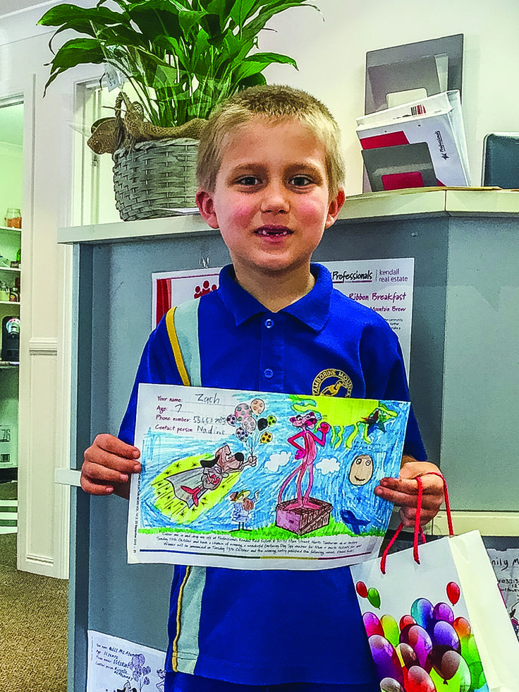 Well done Zach - our runner up in the breast cancer colouring in competition 2015