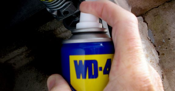 WD-40 is a utility shelf staple. You probably know it as your go-to solution for squeaky hinges and rust prevention, but it's so much more! Inside the familiar blue-and-yellow can is a secret blend of lubricants with anticorrosion, water displacement, and soil removal superpowers. Grab a can today to solve some of the nagging household problems that follow.