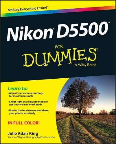 No problem! Nikon D5500 For Dummies is the definitive guide to helping newbies and aspiring photographers get up and running with this great DSLR camera. You'll dive right in to using your camera in automatic mode, then build on this basic knowledge by learning about manual settings, exposure, and more advanced techniques that will have you taking great photographs in a flash.