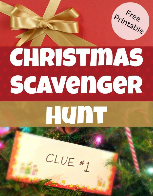Christmas Scavenger Hunt Clues for hiding Christmas Gifts - great for kids!  Free Printable StuffedSuitcase.com