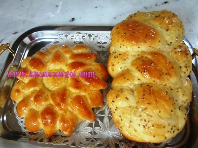 نان گیسو یا گیس بافت (challah bread)   نان و نان شیرینی ...