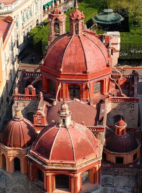 Domes of Templo San Diego in colorful Guanajuato, Mexico..