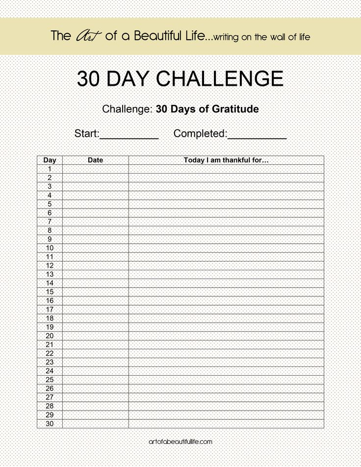 30 Day Challenge Gratitude Gratitude 30th And Relief