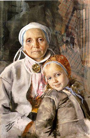 Anders Zorn, watercolor