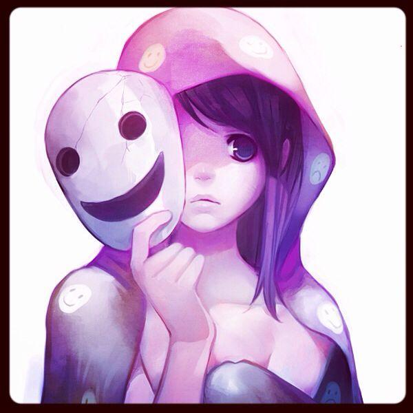Hiding behind a mask   Anime girls(:   Pinterest   Masks