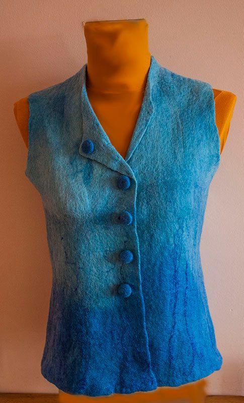 Felted Vest Felt Jacket Felt Clothing Handmade Ooak