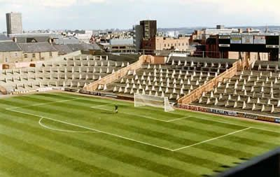 My old haunt, the Gallowgate end, I missed standing at games, remember the hut that sold tea on the left hand side? went from the corner to the K section on the right.