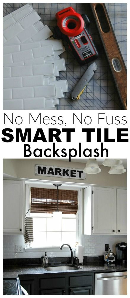 {Kitchen Update!} Smart Tile Backsplash