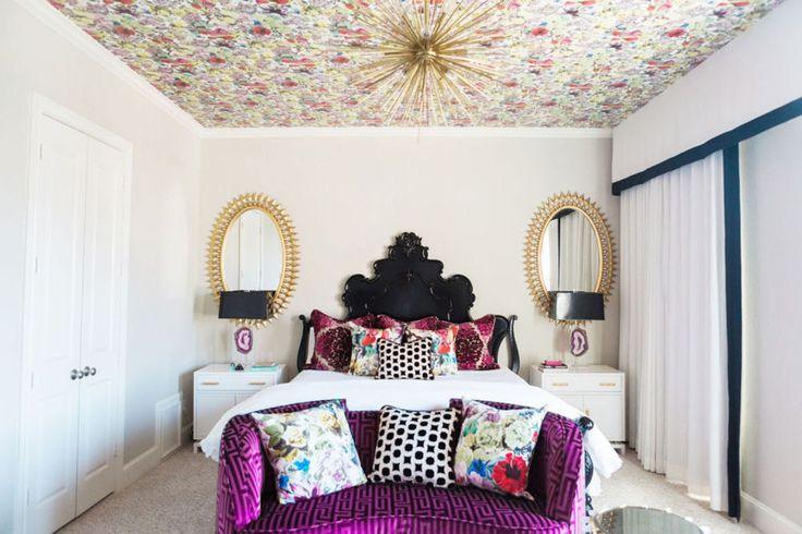 a bold, feminine bedroom | domino.com