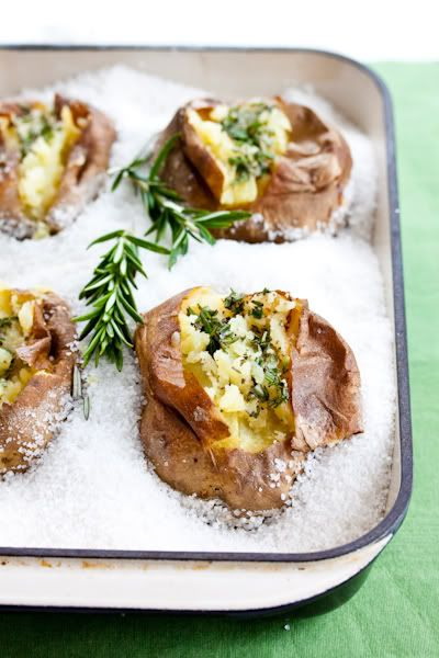 Salt Roasted Potatoes with Rosemary Butter