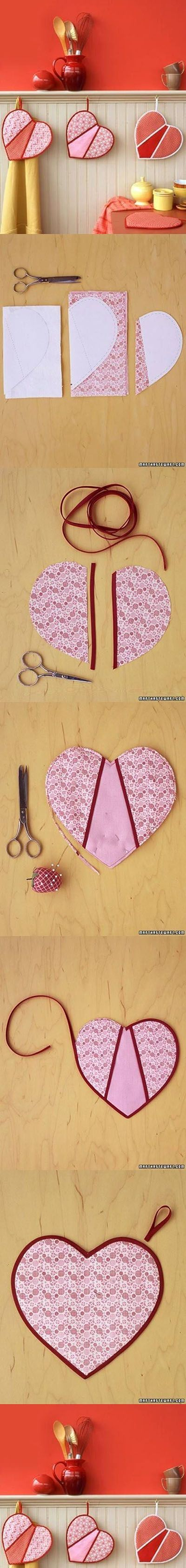 DIY Heart Shaped Pot Holders | DIY & Crafts Tutorials