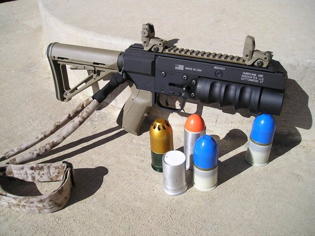 37mm flare launcher images | Put the Invicta inside the grenade and launch it...see how high we can ...