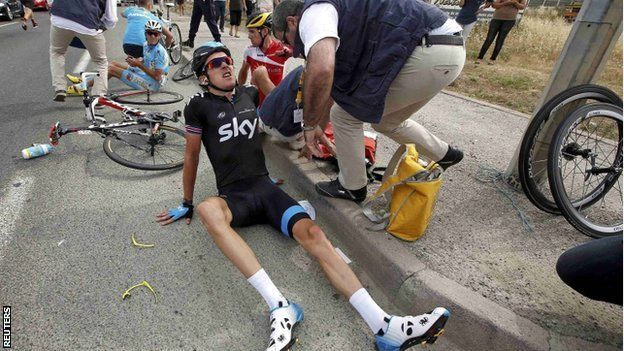 Geraint Thomas is still going strong in Le Tour De France despite a fractured pelvis! How would you cope with the pain