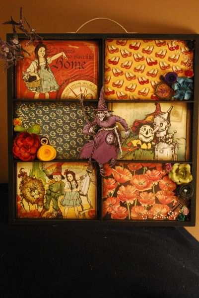 Magic of Oz Altered Photo Tray by Katie from Memories2Keepsakes. #graphic45: Photos Displays Misc, Altered Photos, Graphic45, Altered Trays, Shadowbox Trays, Photos Trays, Printer Trays, Photos Display Misc, Shadowboxes Trays