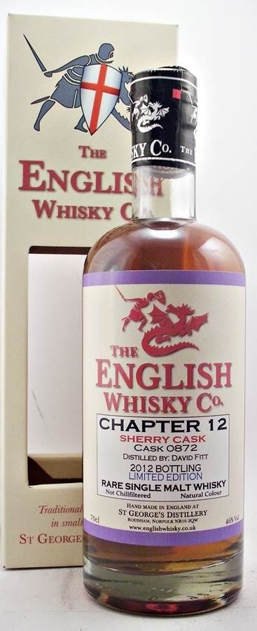 English Whisky Chapter 12 limited Edition No longer available