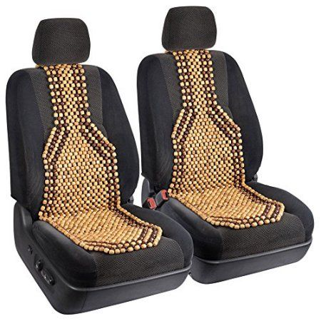 BDK 2pc Beaded Massage Wood Cushion Seat Covers