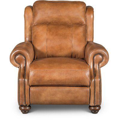 whiskey light brown leather power recliner hancock in 2019 rh pinterest com