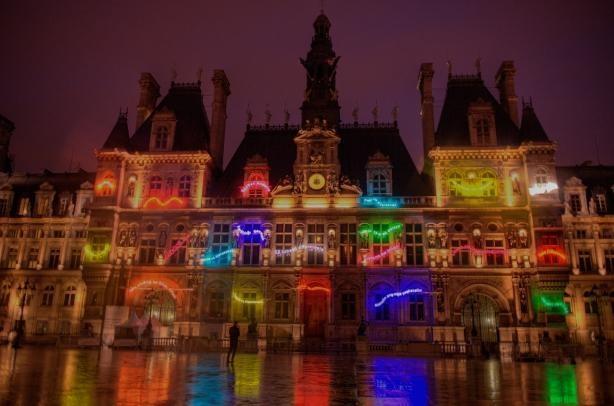 hôtel de ville, nuit blanche 2012, paris