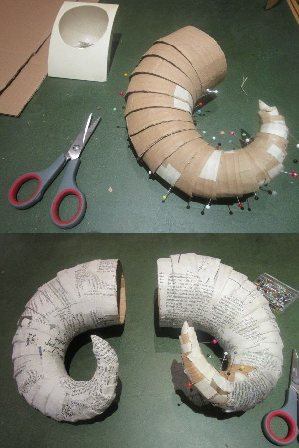 how to make DIY horns for LRP costume - for tiefling etc