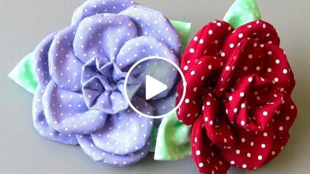 Flor em tecido com 11 pétalas Passo a Passo - Fabric flower tutorial …