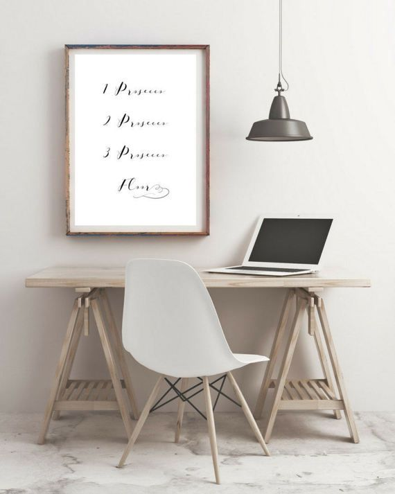 Prosecco Wall Art  Love  Motivational Print  by KarooveCrafts