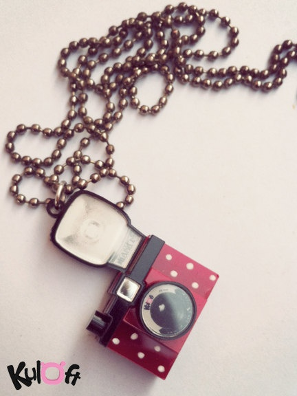 Mickey Lomo camera necklace