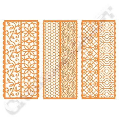 Tonic Simply Screens Die Collection - Clematis Vines, Honeycomb and Moroccan Mosaic (355345) | Create and Craft