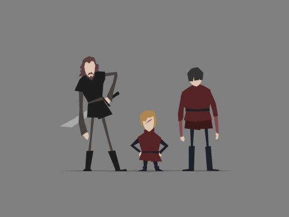 Game of Thrones (GOT) example #38: Game of Thrones minimal artwork