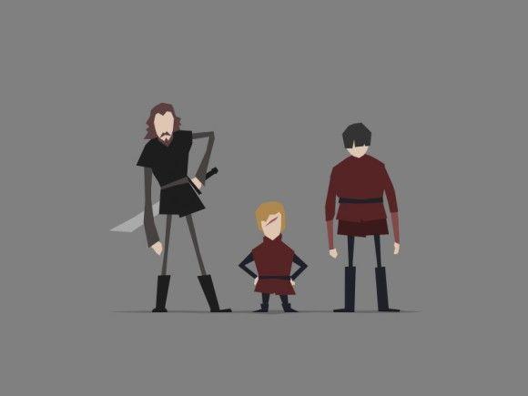 Game of Thrones (GOT) example #38: Game of Thrones minimal artwork