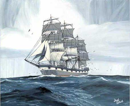 """Tall Ship"" - acrylic painting by Sheryl Gallant - http://sherylgallant.ca"