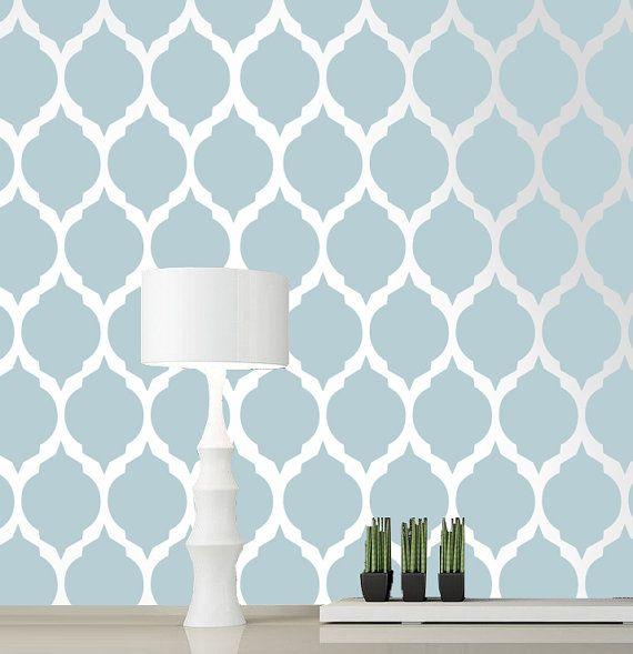 Moroccan stencil pattern Reusable wall stencil designs by DecorZe, $36.00
