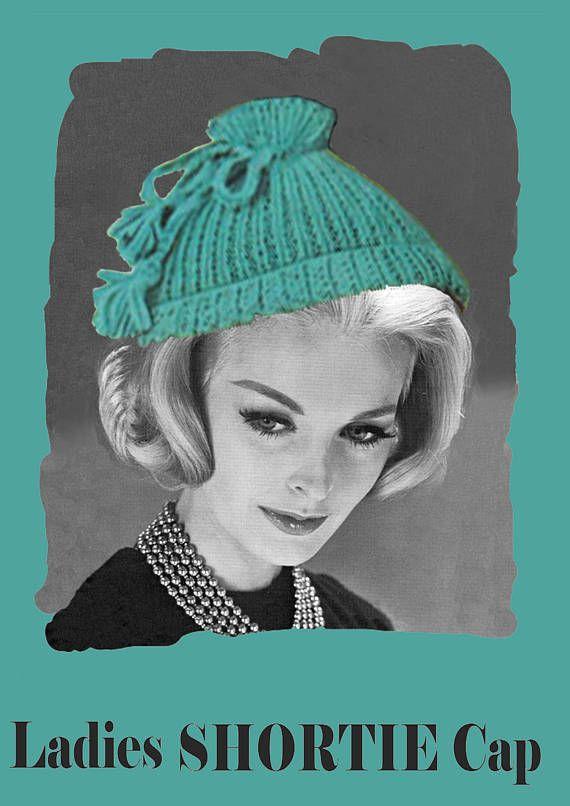 PDF Vintage Womens Ladies 1950s 60s 'SHORTIE' Cap Hat