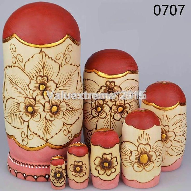 10pcs Hand Painted Russian Babushka Matryoshka Wooden Nesting Dolls Gift set Toy | eBay