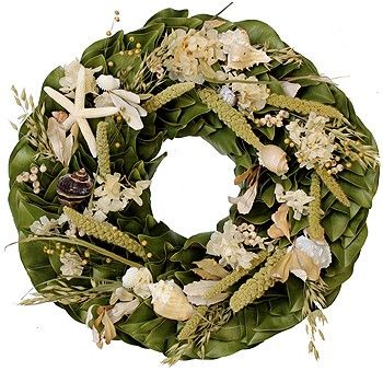 Dried Coastal Breezes Wreath-Available in Three Different Sizes www.wellappointedhouse.com