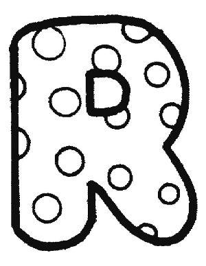 Dibujos de letras para colorear: R