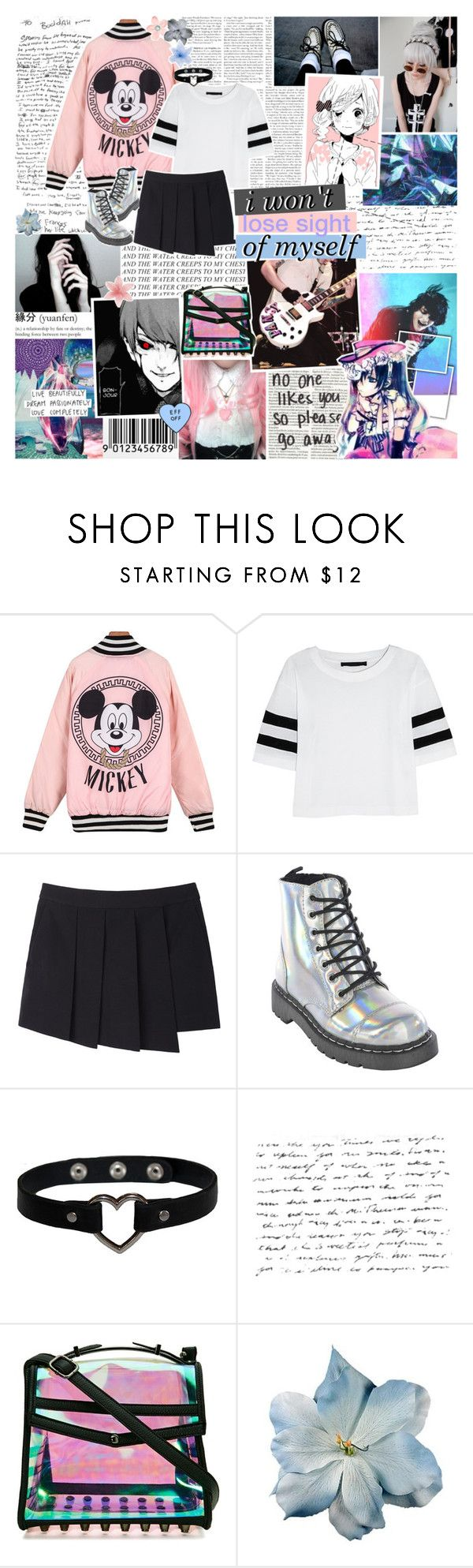 """""""i should probably watch blue exorcist bc i love the op so much"""" by elaine-elizabethxo ❤ liked on Polyvore featuring Karl Lagerfeld, rag & bone, Ciel, Nila Anthony and Luli"""