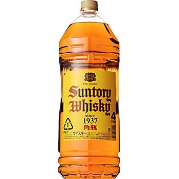 サントリーウイスキー 角瓶 40度 4L(4000ml) 大容量ペットボトル入 【ウイスキー】   timein.jp