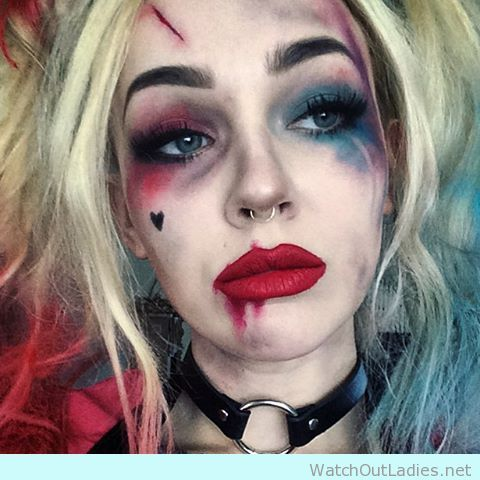 I'll definetly try this Harley Quinn inspired halloween make up - http://watchoutladies.net/harley-quinn-inspired-halloween-make-up/