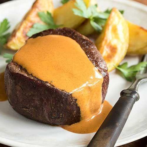 Filet mignon, sauce crémeuse au paprika - Pauvre en FODMAP