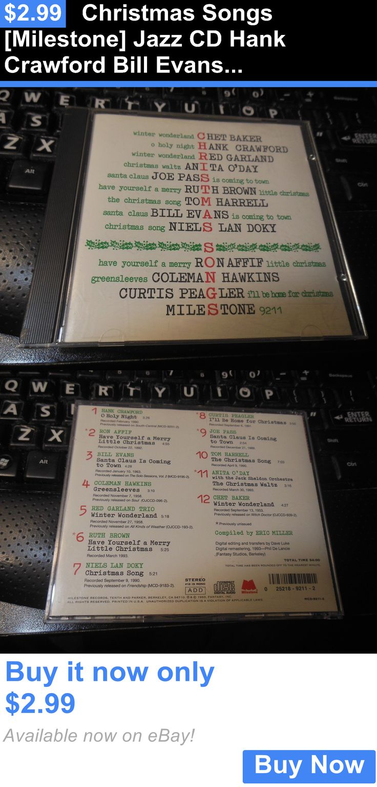 Christmas Songs And Album: Christmas Songs [Milestone] Jazz Cd Hank Crawford Bill Evans Red Garland Joe Pas BUY IT NOW ONLY: $2.99