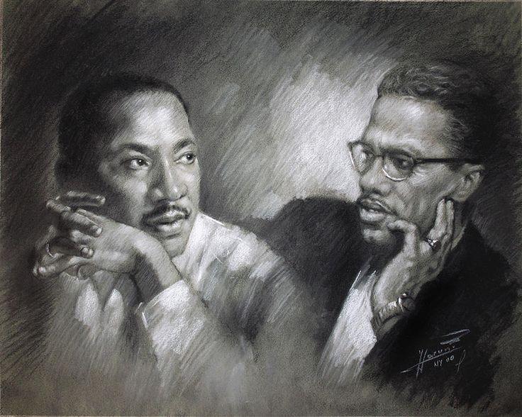 Martin Luther King et Malcolm X par Ylli Haruni