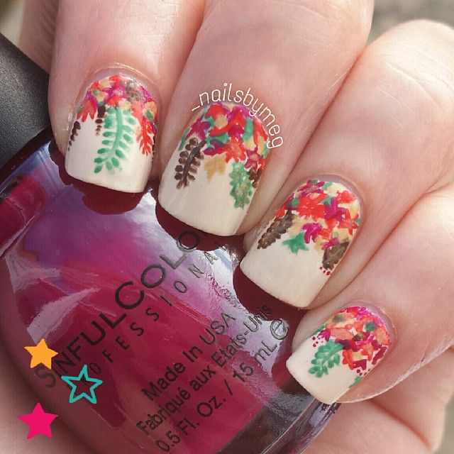 Gorgeous Autumn Inspired Nails: 21 Best Thanksgiving/Fall-inspired Nail Art Images On