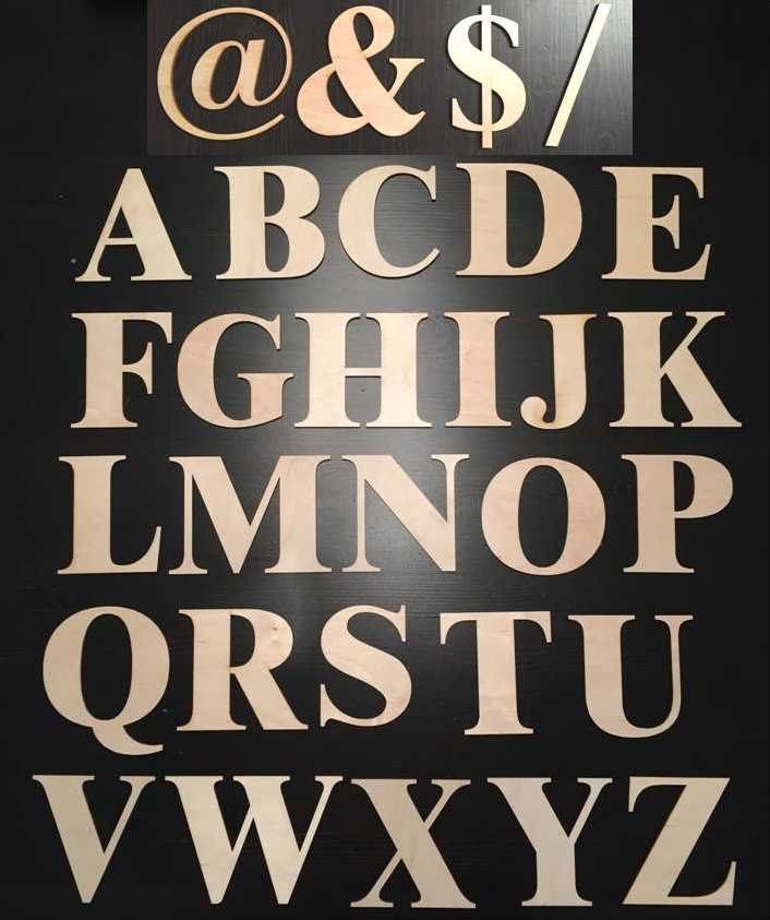 Laser cutted wooden alphabet letters, 100mm high letter by FECOsCreations on Etsy