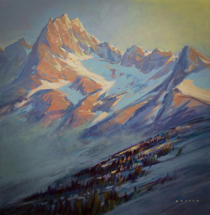 'A Whistler Peak at Sun Down' by Charlie Easton