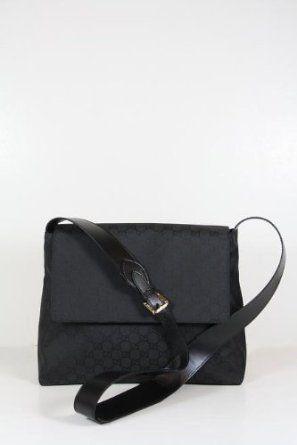 Gucci Handbags Black Nylon and Leather 272351 (Messengers)