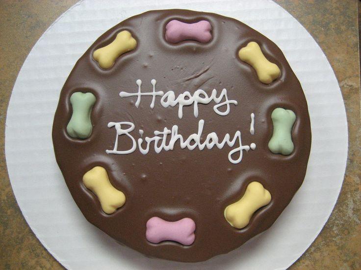 Gourmet Dog Treats Dog Birthday Cake Round 1299 via Etsy